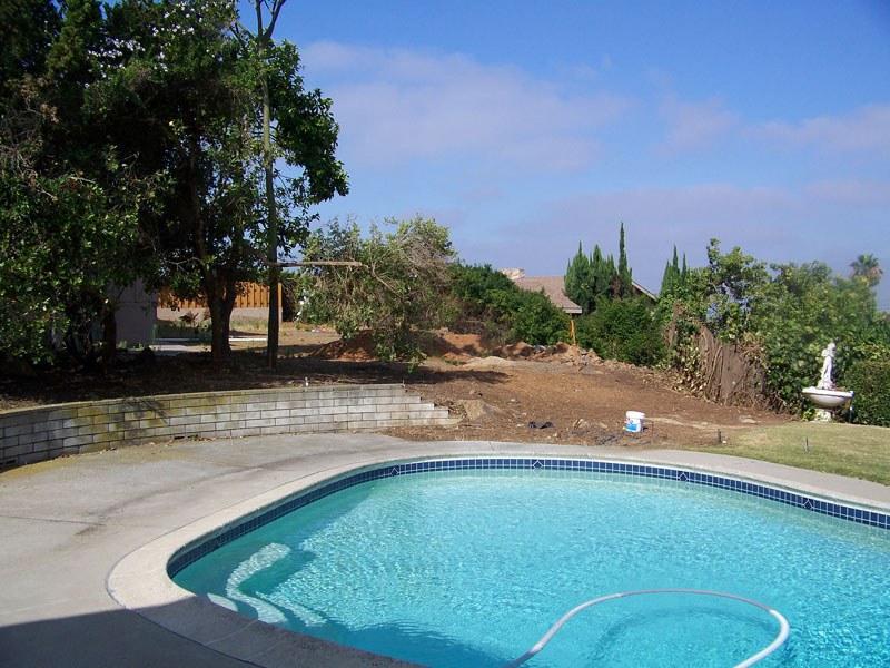 San Diego Backyard Landscape Design With Pool Before