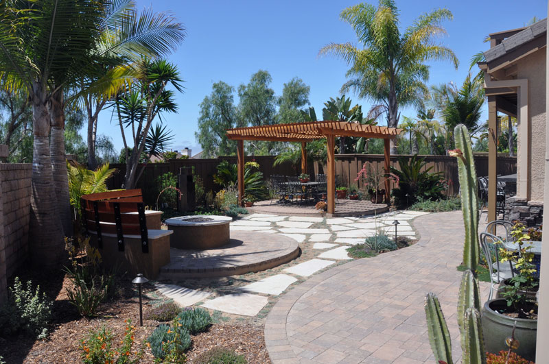 Backyard Design San Diego custom firepit and bbq designs Backyard Landscape Design After