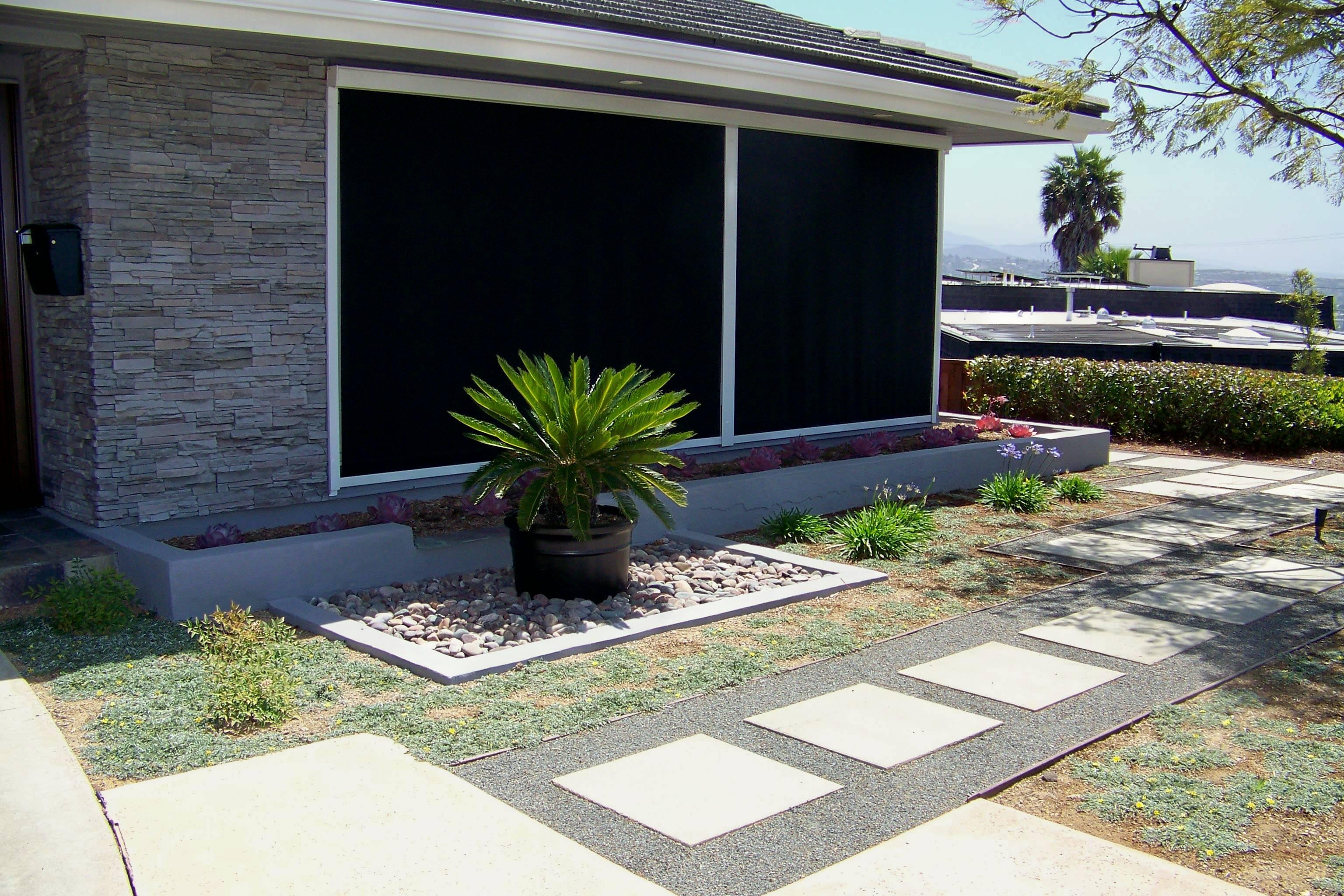 Cement Backyard Dog : Two Hour Landscape Consultation  Letz Design